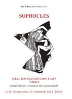 Sophocles  Selected Fragmentary Plays PDF