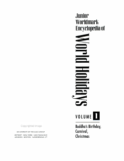 Junior Worldmark Encyclopedia of World Holidays PDF