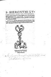 Lucubrationes omnes: Vna Cvm Psevdepigraphis, & alienis admixtis, in nouem digestae tomos. Opus Epistolarum, Τόμος 1