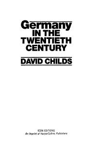 Germany in the twentieth century PDF