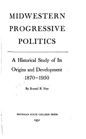Midwestern Progressive Politics PDF