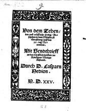 Von dem Zehenden zwu traeffliche Predig: Beschehen in dem Münster zu Straßburg auff den xx. tag Novembris. ¬Mit Sendbrieff an das christlich Heüflein im Rinckgaw, Mentzer Bistumb