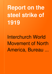 Report on the Steel Strike of 1919: Volume 1