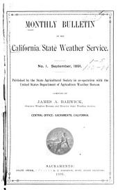 Monthly Review of the California Climate and Crop Service, in Co-operation with the State Agricultural Society: Volumes 1-5