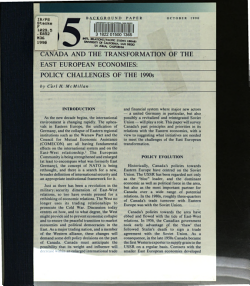 Canada and the Transformation of the East European Economies PDF