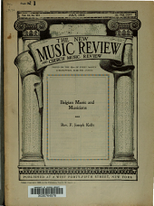 The New Music Review and Church Music Review: Volume 18
