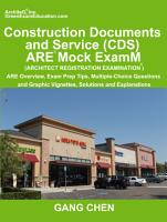 Construction Documents and Service  CDs   Are Mock Exam  Architect Registration Exam   Are Overview  Exam Prep Tips  Multiple Choice Questions and Gra PDF