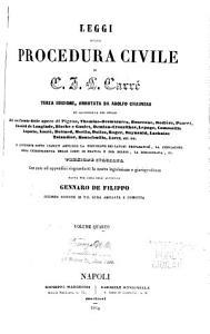 Leggi della procedura civile di C J L  Carr   PDF