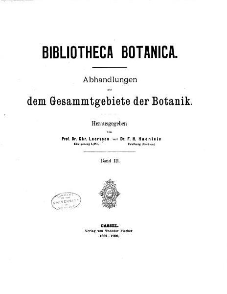 Bibliotheca botanica PDF