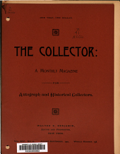 The Collector: A Monthly Magazine for Autograph and Historical Collectors, Volume 14, Issue 10