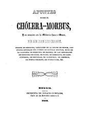 Apuntes sobre el cholera-morbus, y su curacion con la mikania-huaco o guaco