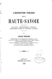 L'instruction publique dans la Haute-Savoie