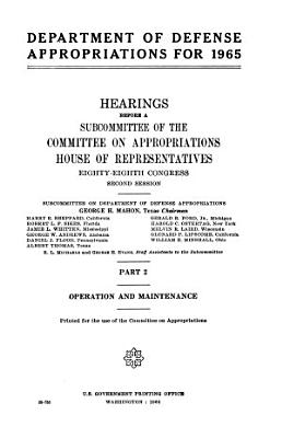 Department of Defense Appropriations for 1965