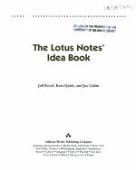 The Lotus Notes Idea Book PDF