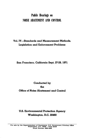 Standards and measurement methods  legislation and enforcement problems