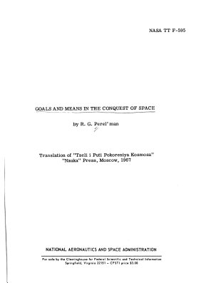Goals and Means in the Conquest of Space PDF