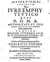 Assertiones Ivridicae De Ivre Emphytevtico