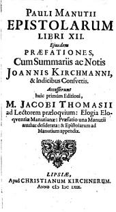 Pauli Manutii Epistolarum libri XII