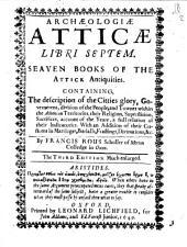 Archaeologiae atticae libri septem