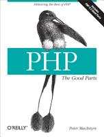 PHP  The Good Parts PDF