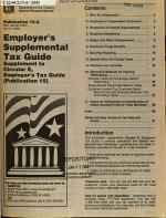 Employer's Supplemental Tax Guide (supplement to Circular E, Employer's Tax Guide, Publication 15).
