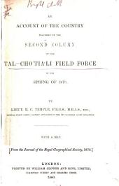 An Account of the Country Traversed by the Second Column of the Tal-Chótiáli Field Force in the Spring of 1879: Volume 3