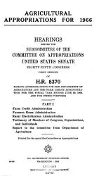 Agriculture environmental and Consumer Protection Appropriations PDF