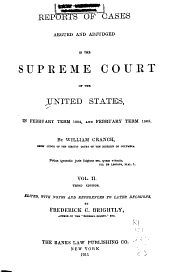 Reports of Cases Argued and Adjudged in the Supreme Court of the United States: Volume 2; Volume 6