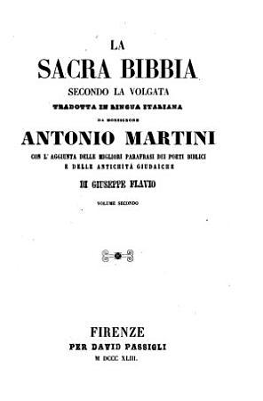 La sacra Bibbia secondo la volgata tradotta in lingua italiana da Antonio Martini PDF