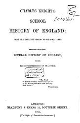 School History of England  from the Earliest Period to Our Own Times PDF