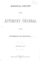 Biennial Report of the Attorney General