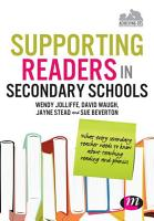 Supporting Readers in Secondary Schools PDF