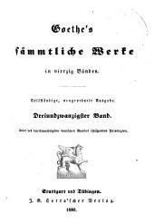 Goethe's sämmtliche Werke in vierzig Bänden: Bände 23-24