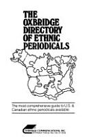The Oxbridge Directory of Ethnic Periodicals PDF