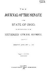 Journal of the Senate of the ... General Assembly of the State of Ohio ...: Volume 84
