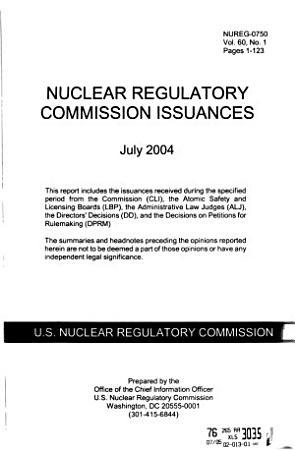 Nuclear Regulatory Commission Issuances PDF