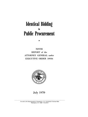 Identical Bidding in Public Procurement