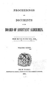 Proceedings of the Board of Assistant Aldermen: Volume 34
