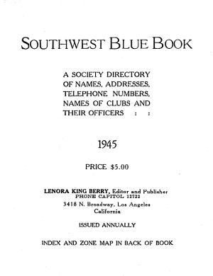 Southwest Blue Book