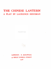 The Chinese Lantern: A Play