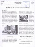 The ADA and City Governments PDF