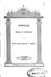 Poesías sérias y satíricas