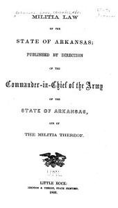 Militia Law of the State of Arkansas
