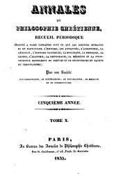 Annales de philosophie chrétienne: Volume10