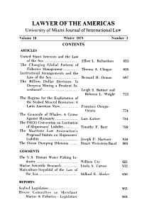 Law of the Sea Symposium Issue PDF