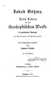 Bd. Einführung in Jakob Böhme
