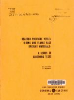 Reactor Pressure Vessel O ring and Flange Face Overlay Materials PDF