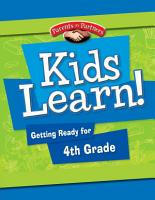 Kids Learn  Getting Ready for 4th Grade PDF