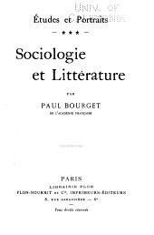 Sociologie et littérature