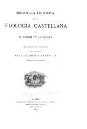 Biblioteca histórica de la filología castellana: Volumen 2